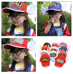 Chicos De Sunbonnets Baratos-Arale Adjustable Angel Wings sombrero de anime Cap para 2-8 años Niños bebés niños niñas sombrero del sol niños Sunbonnet Cap
