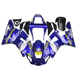 white fairings UK - 3 free gifts Complete Fairings For Yamaha YZF 1000 YZF R12000 2001 Injection Plastic Motorcycle Full Fairing Kit Blue White u1