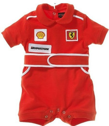 BaBy toddler halloween online shopping - baby boys rompers short sleeves red racing suit for kids boy summer fashion style baby clothes cotton toddlers jumpsuit retail new