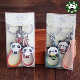 $enCountryForm.capitalKeyWord Canada - A box of two Sichuan panda souvenirs, metal lovers, panda keys, leather rope, gift boxes, key chains, pendants