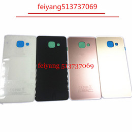 back glass replacement NZ - 10pcs lot OEM Back Glass for samsung Galaxy A3 A310 A310F Battery Door Cover Housing Replacement (2016)