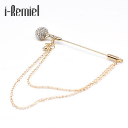 $enCountryForm.capitalKeyWord Canada - 2017 Brooch Plated Trendy Time-limited Special Offer Pin Broche High-grade Microphone Tassel Brooch Crystal Men's Suit Brooches
