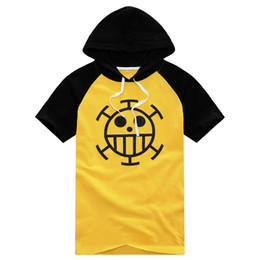 Wholesale one shirt anime for sale – custom Anime One Piece Monkey D Luffy Trafalgar Law rd T shirt sweater Cosplay Costume