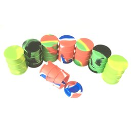 Oil barrel cOntainer online shopping - Stock Piece Silicone Dab Container Barrel Silicone Wax Container Oil Slicks Container New e Cig Accessories