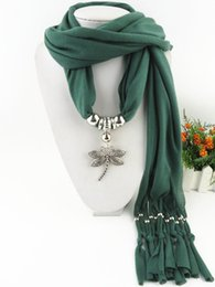 red dragonfly charm 2020 - Hot Sale Women Fashion Black Green Red Alloy Dragonfly Pendant Jewelry scarf For Ladies Female necklace scarf cheap red