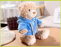 small christmas teddy bears 2021 - 30cm Cute Cartoon Bear Plush Toys Kids Children Small Stuffed Teddy Bear Toy Creative Gift JS 006