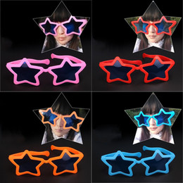 Yellow Grey Party Supplies Canada - 27*10cm Funny Jokes Star Shape Party Glasses Soccer Fans Big Glasses Use Children Birthday Party Exaggerated Star Glasses Decoration
