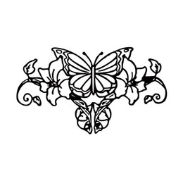 Chinese  For Butterfly Flower Vine Vinyl Graphic Car Styling Decal Car Window Jdm Sticker Funny Cute Accessories Decor manufacturers