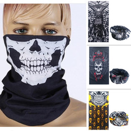 skull half face mask bandana NZ - Hollow Party Costume Skull Mask Multi Function Bandana Ski Sport Motorcycle Biker Scarf Face Masks Outdoor Facial Mask