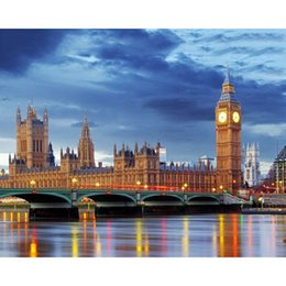 Discount big ben paintings - No Frame Big Ben Modern Landscape DIY Painting By Numbers Drawing On Canvas Wall Art Picture For Living Room Decoration