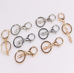 $enCountryForm.capitalKeyWord NZ - Metal color seal oil key ring key ring DIY bag pendant lobster deduction jewelry accessories KR076 Keychains mix order 20 pieces a lot