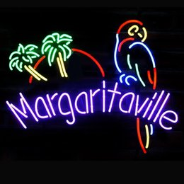 parrot display 2019 - Fashion New Handcraft Margaritaville Parrot Real Glass Tubes Beer Bar Pub Display neon sign 19x15!!!Best Offer!