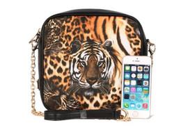 Tiger Head Handbag UK - 2017 dinner fashion women handbags tiger head message bags ladies single shoulder bags golden chains mini Circular