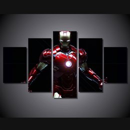 free hd movies 2019 - 5 Pcs Set Framed HD Printed Iron Man Movie Painting on canvas room decoration print poster picture canvas Free shipping