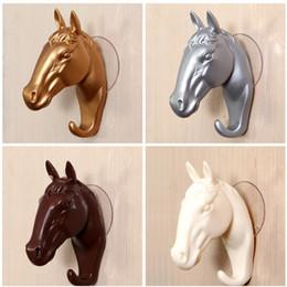 $enCountryForm.capitalKeyWord Australia - Vintage Decorative Wall Hook for Home Furnishing Modern Small Horse Hooks Resin Wall Jewelry Keys Hangers Rack Creative