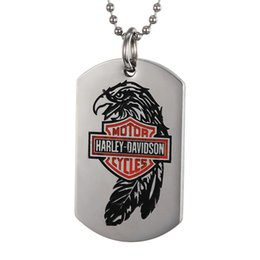 $enCountryForm.capitalKeyWord Canada - 2017, Europe and the United States wind stainless steel pendants, men's Harley parrot pendant, red letters stamp tag