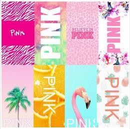 pink letter beach towel vs pink bath towels fitness sports towel leopard flower swimwear sweat bathroom towels yoga spa outdoor towel b2271 - Beach Towels On Sale