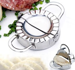 New Eco-Friendly Pastry Tools Stainless Steel Dumpling Maker Wraper Dough Cutter Pie Ravioli Dumpling Mould Kitchen Accessories from ravioli moulds manufacturers