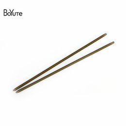 $enCountryForm.capitalKeyWord UK - BoYuTe 10 Pieces 3*130MM Metal Hair Stick with One Loop 7 Colors Plated Brass Material DIY Hair Jewelry