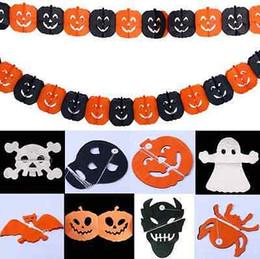 3m halloween party garland pumpkin spider skull garland paper garland bat ghost halloween decorations party props supply yya324 - Discount Halloween Decor