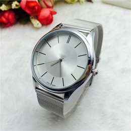 Ship Free Mens Wrist Watches Canada - Luxury Watch New Men Women Casual Stainless Steel Mesh Belt Watches Mens Wrist Watch Relogio Masculino wholesale Free Shipping