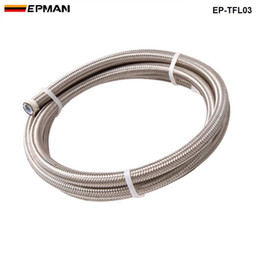 braided hose wholesale 2020 - EPMAN 50M Braided Stainless Steel 3AN AN3 AN-3 Te-fl-on Brake Swivel Hose PTEF Hydraulic Brake Fuel Line Hose EP-TFL03 c