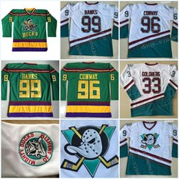 ... Anaheim Ducks Movie Jerseys 66 Gordon Bombay 96 Charlie Conway 99 Adam  Banks 33 Greg Goldberg ... 0c36a7f8b