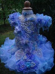 $enCountryForm.capitalKeyWord NZ - Scoop bow purple luxury necklace hand made flower ball gown cupcake toddler little girls pageant dresses flower girls for weddings glitz