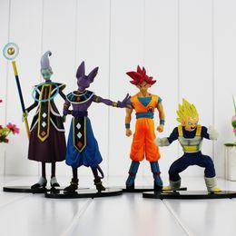 $enCountryForm.capitalKeyWord Australia - 4pcs lot Action figure toys Dragon ball Battle of Gods Super Saiyan Son Goku Vegeta Whis Beerus PVC Action toys