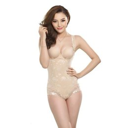 Barato Sexy Fashion Body-Atacado- Mulheres Sexy Soft Full Bodysuits Cintura Trainer Corset Body Slimming Shaper Shapewear