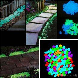 100x bagliore nel buio ciottoli pietra casa giardino passerella acquario serbatoio di pesce arredamento più nuovo decorativo ghiaia per il tuo giardino fantastico o cortile