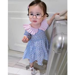High Quality Boutique Clothing Canada - Free Gift Trendy Floral Print 100% cotton Dress for Girls High Quality Boutique Outfits for Girls Korea Design Clothing