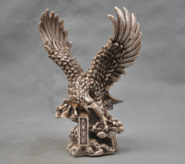 "$enCountryForm.capitalKeyWord NZ - 8""Collectible Decorated Old Handwork Tibet Silver Carve Eagle Dapeng wing Statue"