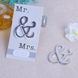 $enCountryForm.capitalKeyWord NZ - Mr. & Mrs. Metal Silver ampersand Beer bottle opener Wedding party souvenir Gift for guests DHL Free Shipping