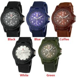 Wholesale fashion mens nylon fabric Military Sports Gemius ARMY Watch casual men quartz wrist watch cool style Analog wristwatch