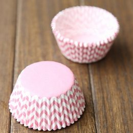 Cupcakes Mix Australia - Pink Cupcake Liners Bluk High Temperature Baking Greaseproof Paper Mini Muffin Cupcake Liner Bakeware Paper Cases Cake Mould