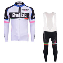 Discount italy suits - Tour De Italy D'ITALIA 2017 Cycling Jerseys long sleeves cycling shirt Bike bib pants suits bicycle Clothing quick