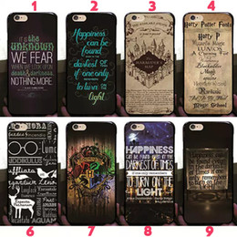 Iphone Harry Potter Canada - Harry Potter Marauders Hard PC Case Hogwarts Map Words Plastic Back Cover Skin 2017 Fashion Hot Arrival For iPhone 8 7 Plus 6 6S SE 5S 5