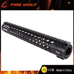 Ship float online shopping - FIRE WOLF Keymod Tactical Carbine Free Floating Handguard Mount Bracket with Detachable Rails BLACK