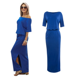 China 2017 New Sexy Summer Women Boho Maxi Dress Short Sleeve Side Slit Loose Evening Party Long Beach Dress with Pocket Vestidos Casual Dresses suppliers