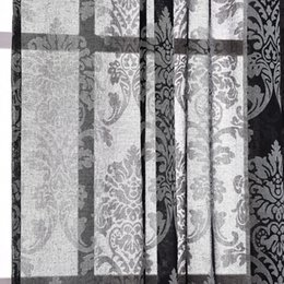 european cotton and linen pattern embroidered screens curtains for bedroom living room semishade curtains discount patterned curtains for - Patterned Curtains