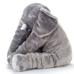giant grey elephant plush toy pillow for baby big stuffed elephant pillow and doll cute elephant plush pillow cushion 40cm