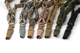 single point gun sling 2019 - 1000D Tactical Single Point Sling Adjustable Bungee Rifle Gun Sling Strap Tactical Single Point Gun Sling