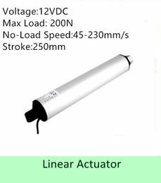 Speed S NZ - high speed linear actuator 12VDC 250MM  10inch stroke 100N 100mm s IP 54 low noise linear motor
