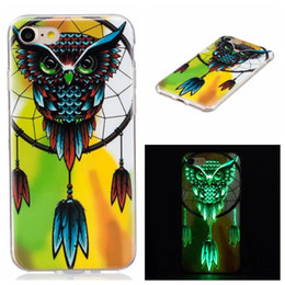 Glow dark iphone 5s case luminous online shopping - Bling Glow in dark Flower Owl TPU Soft Case For Iphone XR XS Max PLUS S SE S C Luminous Skull Butterfly Dreamcatcher Cover
