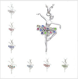 $enCountryForm.capitalKeyWord Canada - Christmas Dancing Ballerina Dancer Crystal Ballet Dance Pendant Necklace Charm for Women Women Gros Collier Femme Jewellery