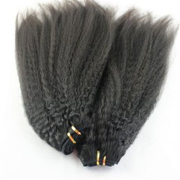 $enCountryForm.capitalKeyWord Canada - Unprocessed Human Kinky Straight Hair 3 bundles Brazilian Coarse Kinky Straight Hair Weave Yaki Human Hair Extensions