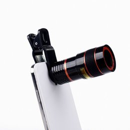 Chinese  Universal 8X Optical Mobile phone Zoom Telescope Camera Lens Clip Mobile Phone Telescope For iPhone 6 plus for Samsung s6 note 5 for Huawei manufacturers