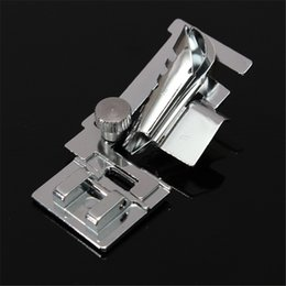 China Bias Tape Binding Binder Foot Presser Feet For Domestic Sewing Machine Silver Tone For Snap On Domestic Sewing Machine Singer suppliers