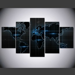 World map wall art panels nz buy new world map wall art panels world map wall art panels nz 5 panel modern miracle earth world map art print gumiabroncs Gallery